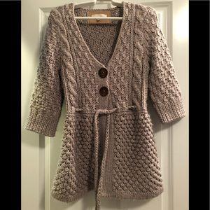 Anthropologie Kaisley Taupe Cardigan Sweater-LG